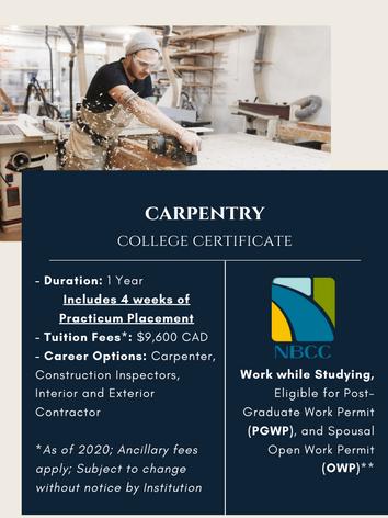 Carpentry Certificate