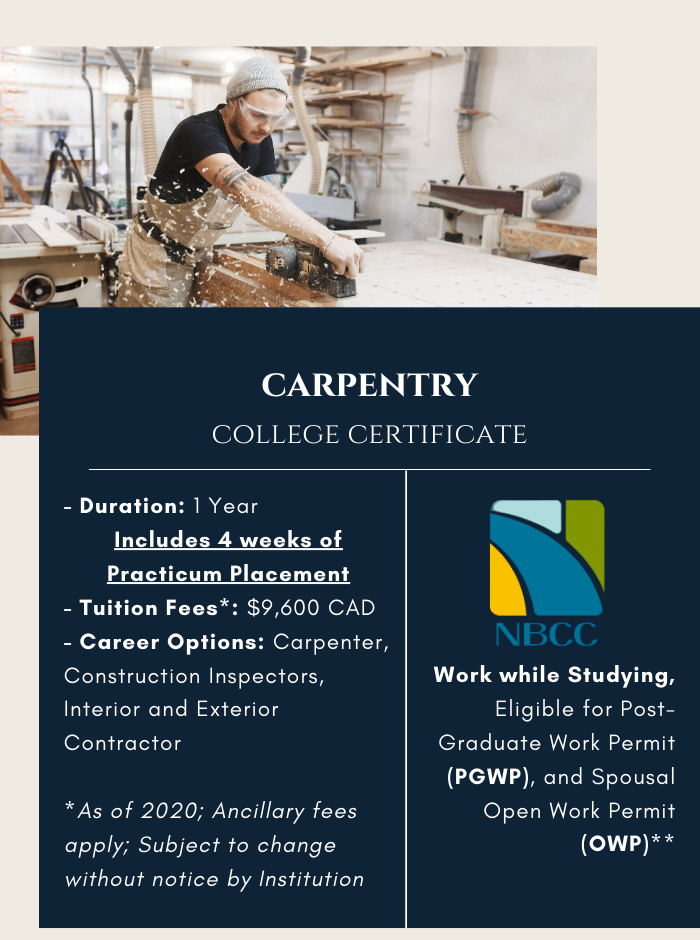Carpentry Certificate