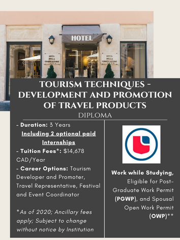 Tourism Techniques - Development and Promotion of Travel Products Diploma