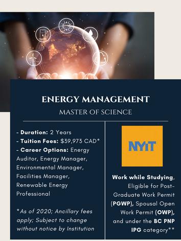 MSc. in Energy Management