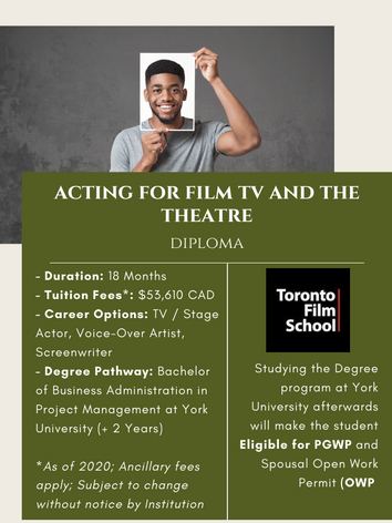 Acting for Film TV and the Theatre