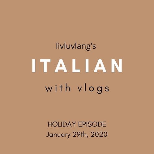Learn Italian with Vlogs (past tense verbs) | Italian Holiday Season