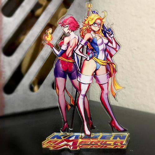 Kamen America Character Standee