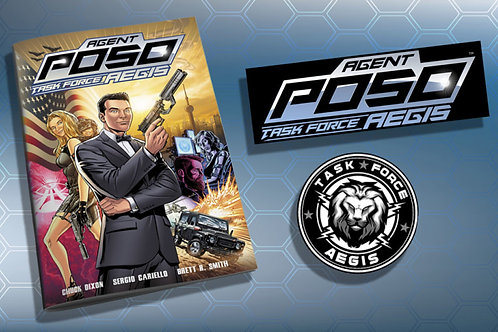 Agent Poso Task Force AEGIS Issue #1 - Bundle  -  SIGNED Option Available