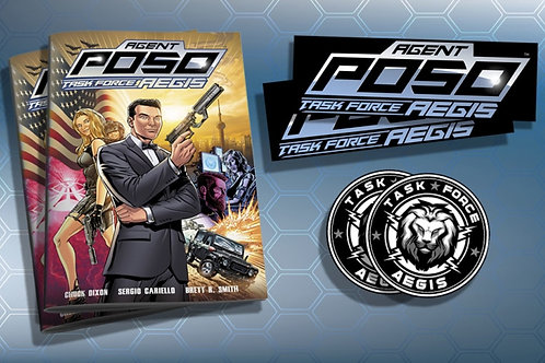 Agent Poso Task Force AEGIS Issue #1 - Double Bundle  -  SIGNED Option Available