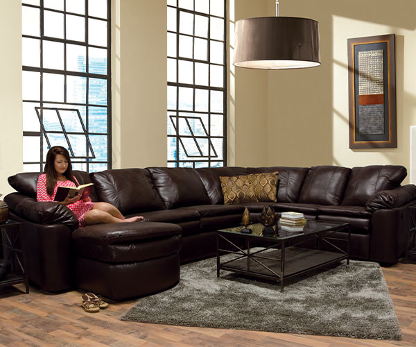 7300 Leather England Sectional