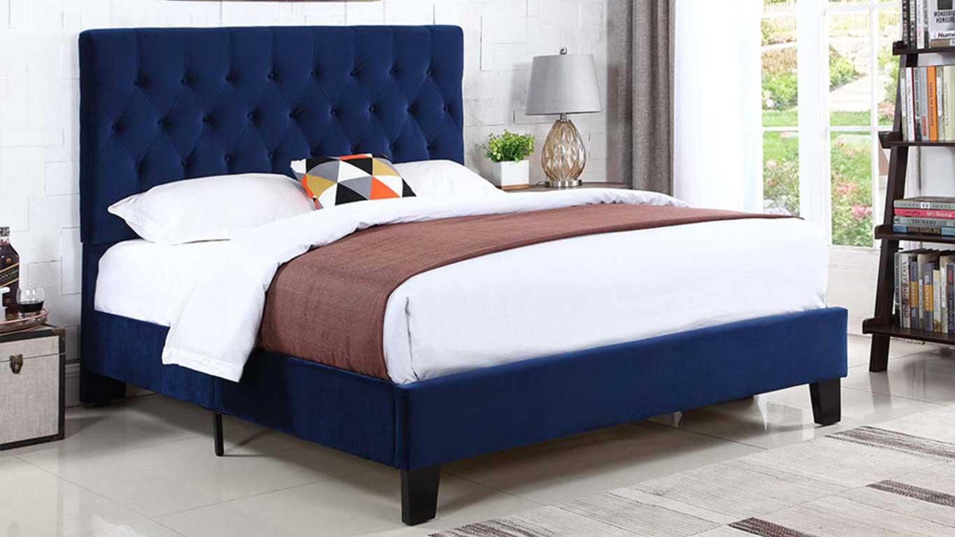 Navy Bed Frame