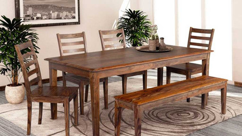Frontier Dining Set Brown