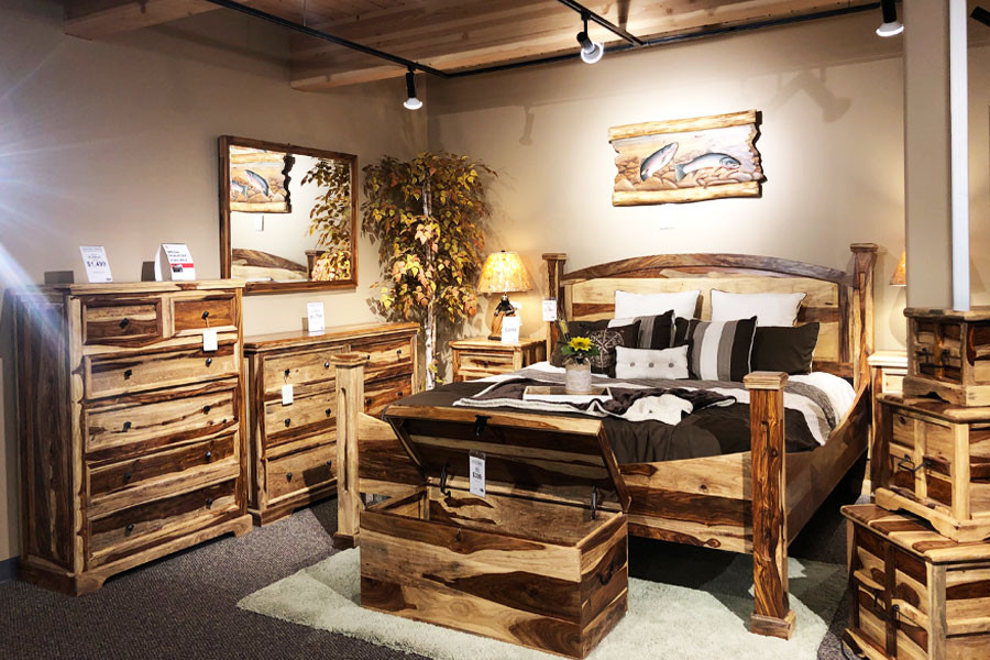 Indian Rosewood Bedroom Set