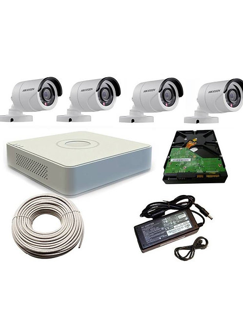 4 Channel Hikvision Turbo HD Kit