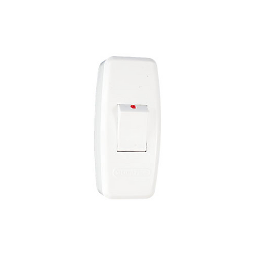 Cut-Out Isolation On-Off Switch White