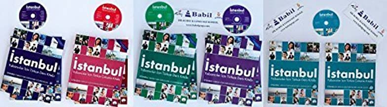 Istanbul Complete Set Turkish Language Course Books 5 Books for Beginner to Advanced Levels: A1 A2 B