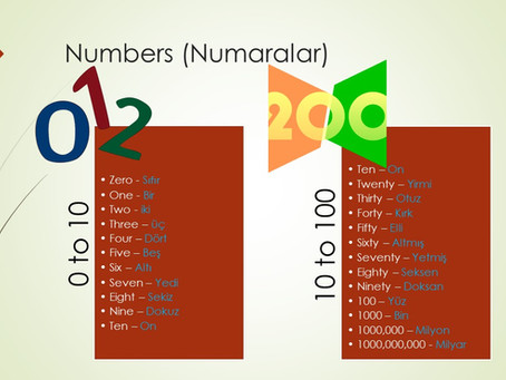 Numbers in Turkish