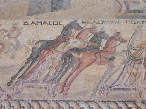 Minister tours rare Akaki mosaics depicting scenes from chariot race (photos)