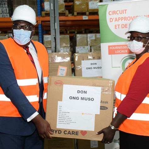 Over one million pieces of PPE have arrived in Côte d'Ivoire