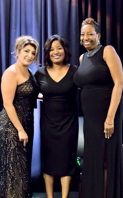 Consuelo Brandon NTX Chapter Secretary & WIS Liaison, CEO Kim Robinson of New friends New Life non-profit organization, Yolanda Scott- NTX Chapter Chair Our highlighted charity partner New Friends New Life restores formerly sex trafficked girls and sexually exploited women.