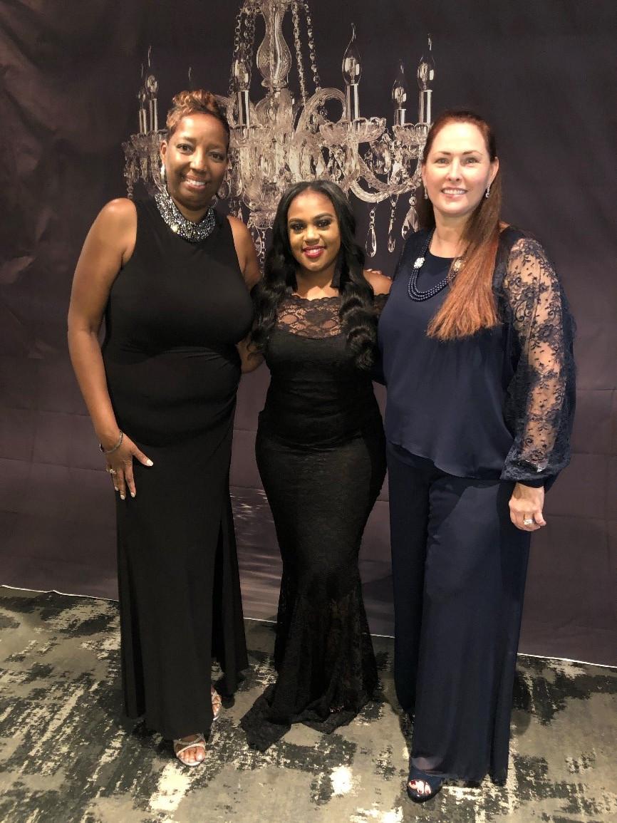 Yolanda Scott- NTX Chapter Chair, Cherita Wilson Young Professional (YP) volunteer, Elizabeth Moslander - WIS Counsel President and VIP guest