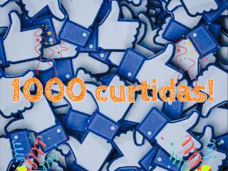1000 curtidas na página do Facebook!!
