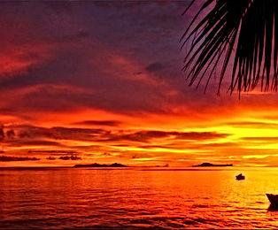 golden red sunset