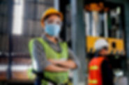 Factory woman worker or technician with