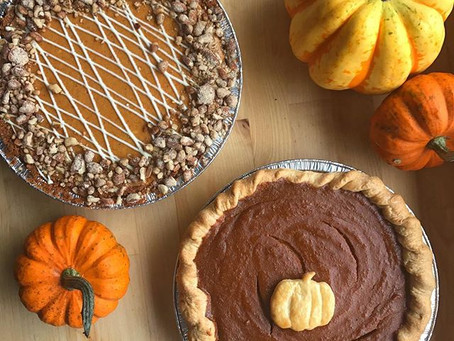 Thanksgiving Menu is here!       Bring on the fall colours, crisp air + of course, pumpkins!