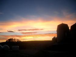 牧場の夕暮れ