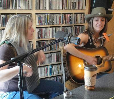 At CKUA with Jenny Allen