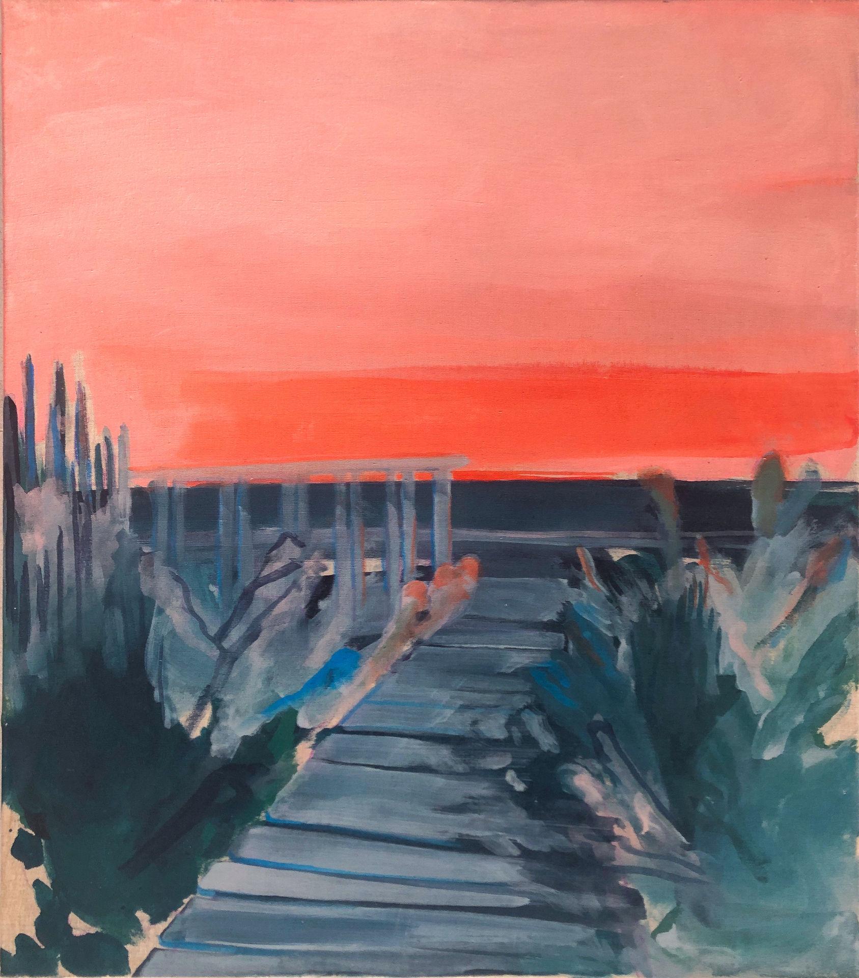 Pink Bay Sun Setting II