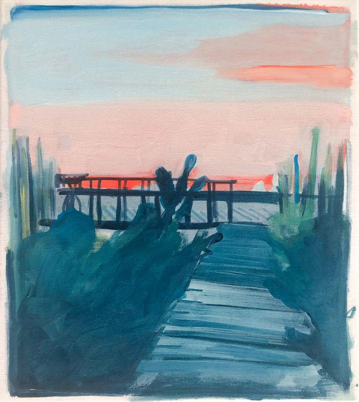 Pink Bay Sun Setting III