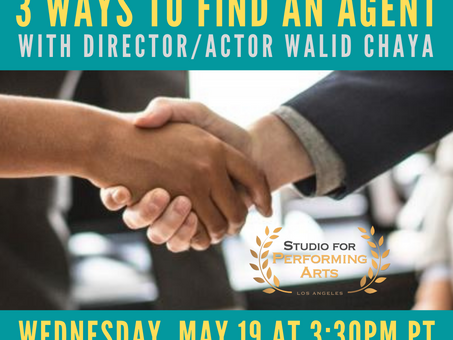 FREE! 3 Ways To Find An Agent with Walid Chaya!