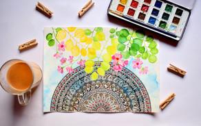 Pintura de meditativa, conecta contigo a través del arte