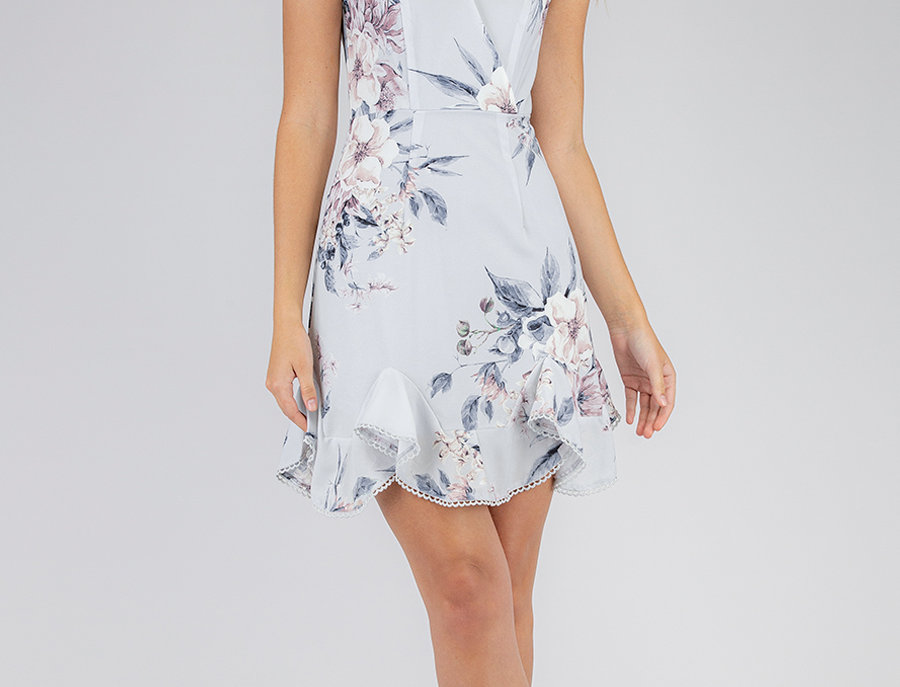 Olivia Dress in Sky Blue