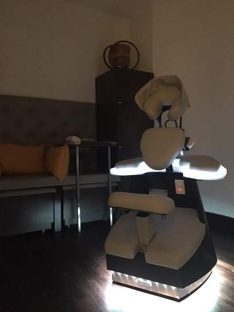 custom made massage chair for the spa by jw