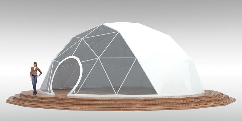 Шатер геокупол диаметром 10 метров