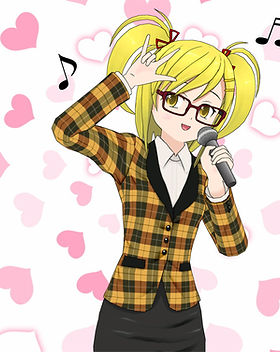 Singing Heart Anime Character
