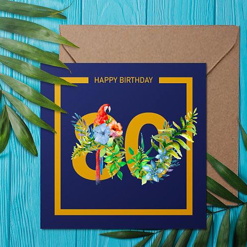 Tropical flower 80th birthday