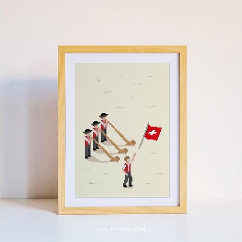 Swiss in pixels poster - 01