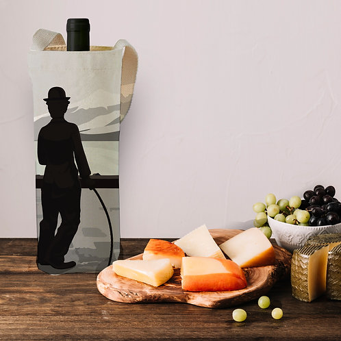 Charlie Chaplin wine bag