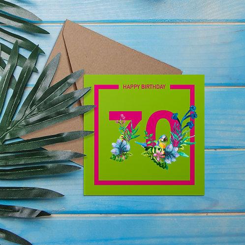 Tropical flower 70th birthday