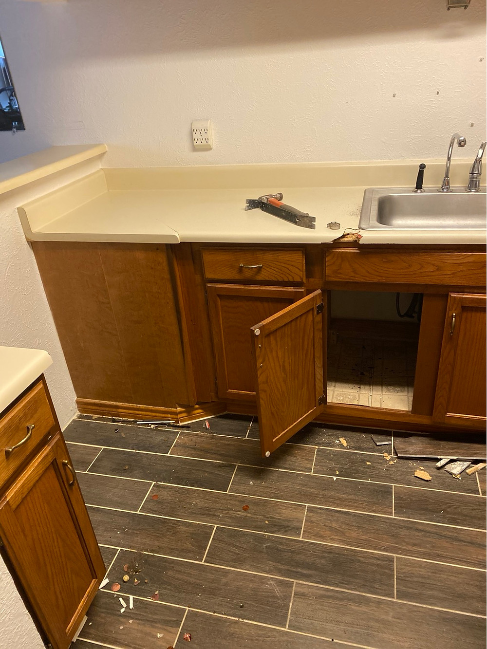 Kitchen Renovation before picture