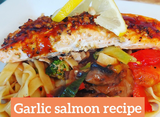 Garlic salmon recipe from chef Ricardo cooking TV chef Jamaican international chef