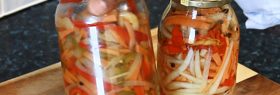 Jamaican pickle pepper sauce for fried fish | Chef Ricardo Cooking