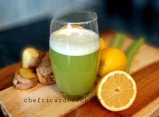 Celery juice for weight loss and detoxing your body #Chefricardocooking