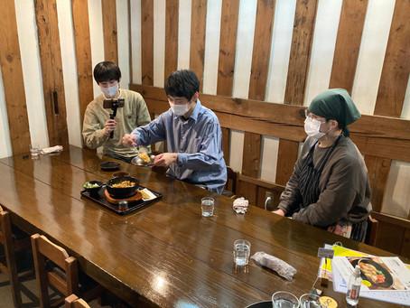 敬和学園大学 学生さんの食レポ動画撮影中!
