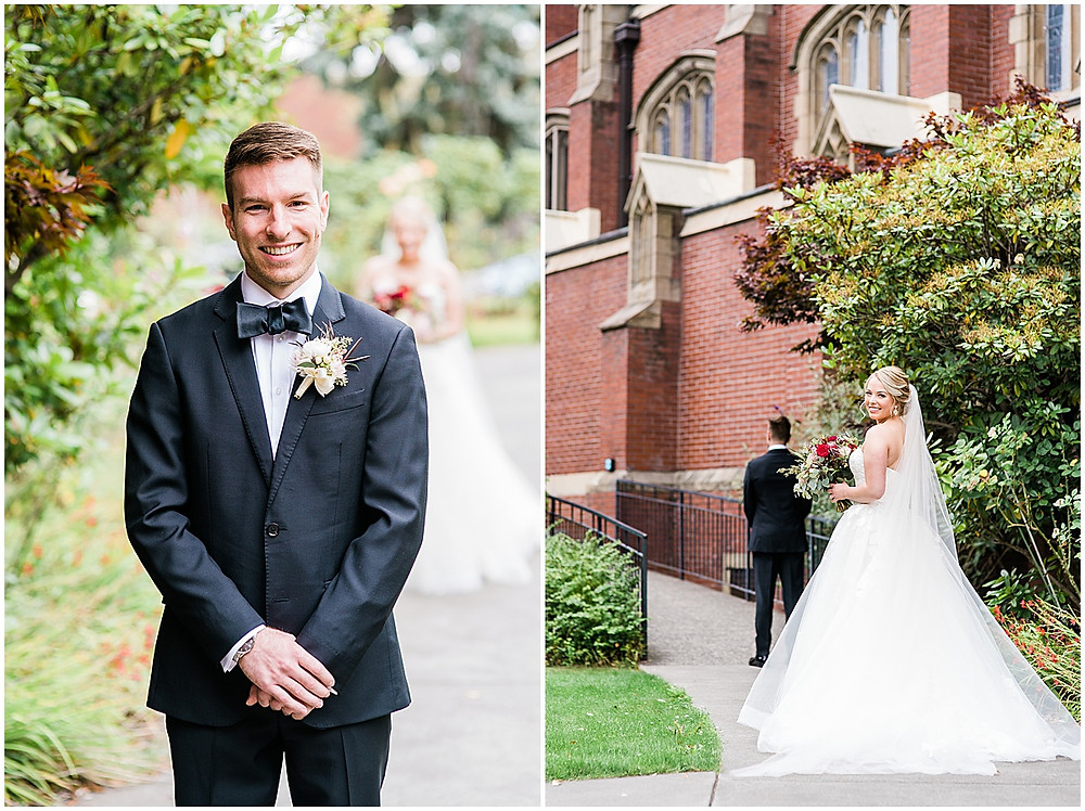 Seattle Fall Wedding at the Blessed Sacrament Church and Hall at Fauntleroy in West Seattle OffBlack Arts, Hair by Alisé, wedding day hair, seattle wedding photographers, seattle wedding, seattle fall wedding, updo, wedding makeup, anabella photography,