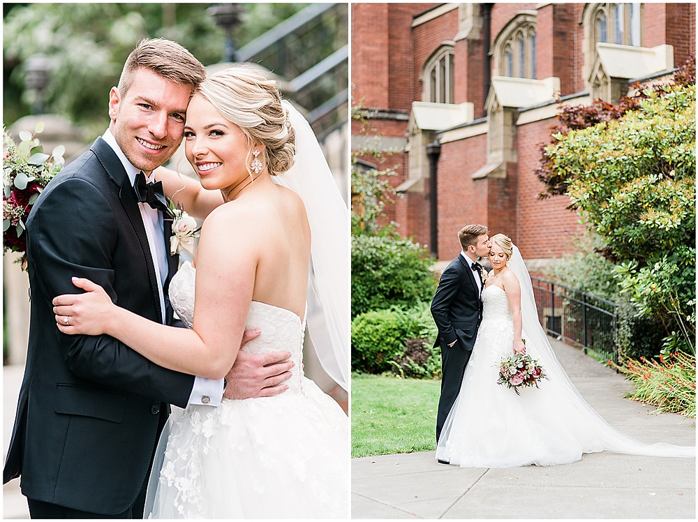 Seattle Fall Wedding at the Blessed Sacrament Church and Hall at Fauntleroy in West Seattle OffBlack Arts, Hair by Alisé, wedding day hair, seattle wedding photographer, seattle wedding, seattle fall wedding, updo, wedding makeup, anabella photography, wedding jewelry,