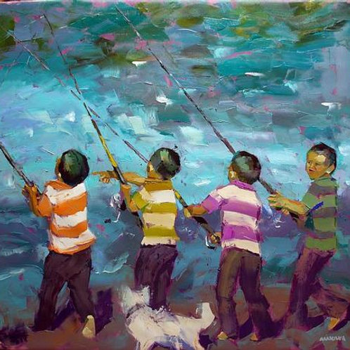 Makiwa Mutomba - Fishing in the Sea