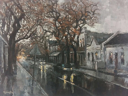 Ryan Loubser - Winter Stellenbosch Street Scene