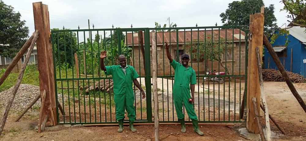 The new gate at Eco Brixs HQ so customers can buy Eco-Products in bulk and collect them
