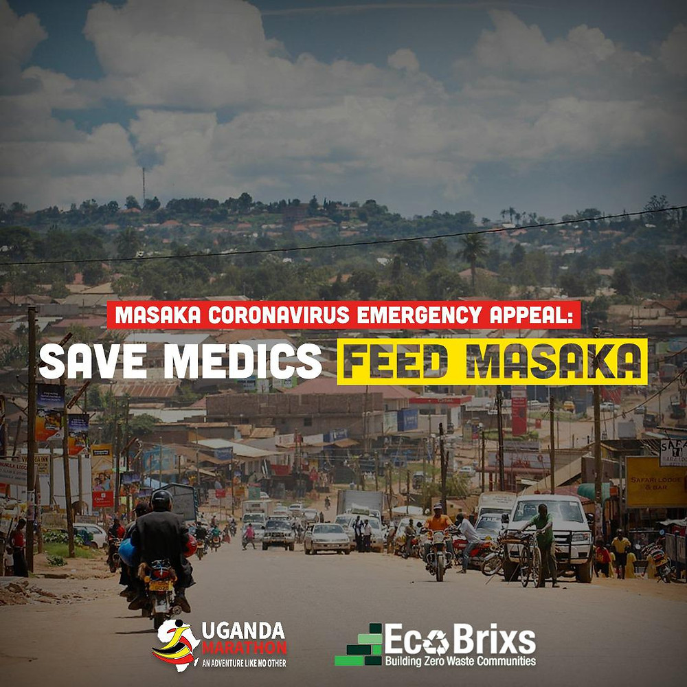 Eco Brixs and Uganda Marathon joint Relief Programme to support Masaka in Uganda from Coronavirus